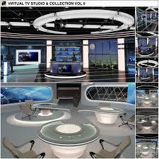 tv studio furniture. Virtual TV Studio News Sets Collecti By Akerdesign On @creativemarket # #set #viz #vizrt #orad #news #TV #broadcast #television #stage #live #interior Tv Furniture