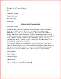 proposal letter example best of a proposal letter sample job latter