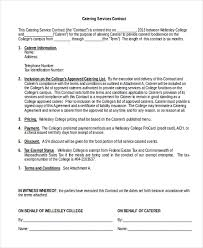 sample catering services contract form wedding catering contract sample