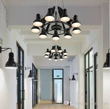 regron black spider chandelier novelty lighting large swing arm red iron chandelier luminaria meeting commercial industrial lighting