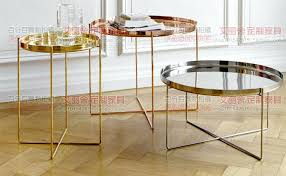 small round cocktail table post modern stainless steel rose gold small round coffee table minimalist modern small round cocktail table
