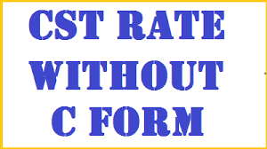 Cst Rate With Without C Form D Form Simple Tax India