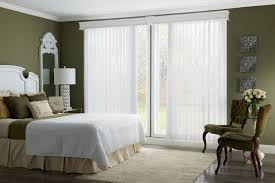 white window treatments for sliding glass doors