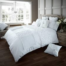 verina duvet cover with pillowcase quilt cover bed set single double king cream double by gc co uk kitchen home
