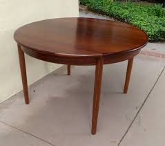mid 20th century danish mid century modern extendable rosewood dining table with leaves for