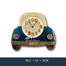 lighted wall clock metal og silent