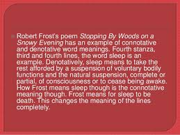 literary devices used in stopping by woods on a snowy evening 18  robert frost s poem stopping by woods on a snowy evening