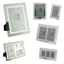 sixtrees stanbridge bevelled glass mirror line photo frames 3 x 2 10 x 8