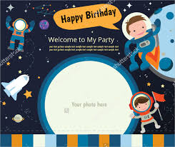 Space Party Invitation 26 Postcard Birthday Invitation Templates Psd Word