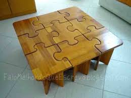 jigsaw puzzle table with drawers coffee diy tabletop board jigsaw puzzle table