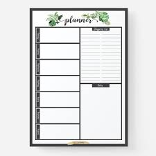 Weekly Meal Planer Reusable Weekly Meal Planner With Shopping List Greenery