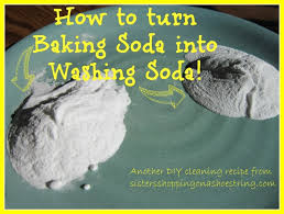 DIY Cleaning Recipes: Make your own Washing Soda from Baking Soda