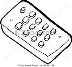 remote control drawing. cartoon remote control - csp15564181 drawing e