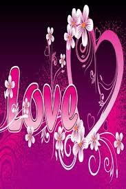 pink love heart wallpaper to