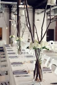 Rustic Tree Branch Wedding Centerpieces