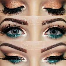 amazing bronze and blue eye makeup