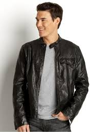 lyst banana republic leather moto buckle jacket in black