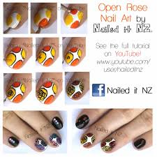 Fall/Autumn Nail Art - Open Roses (with tutorials!)