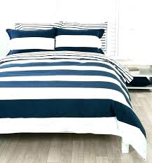 navy and white striped bedding blue