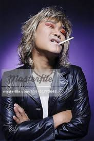 man in leather jacket wearing make up cigarette in mouth stock photo leather jacket how to remove