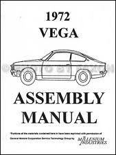 chevy vega motors 1972 chevrolet vega factory assembly manual chevy