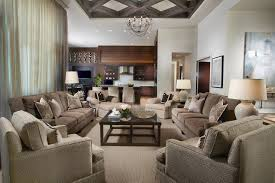 Open Concept Living Room Decorating Mesmerizing Open Living Room Design With White Fabric Sofa Cabin