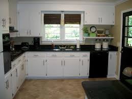 Black Kitchen Cabinets With White Counters Interior Exterior. White Kitchen  Cabinets Black Counters