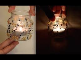 Decorating Candle Jars Decorate Candle Jar to Make a TeaLight Holder DIY YouTube 35