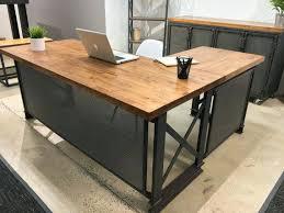 office desk l. Industrial Office Desk The L Shape Large Executive Modern Design Ideas