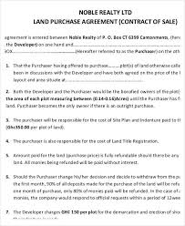 Purchasing Contracts Templates 7 Land Purchase Agreement Form Samples Free Sample Example