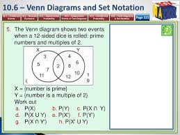 Venn Diagram And Set Notation Unit 10 Probability Mathematics 9 1 Igcse Year Ppt