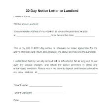 Rent Notice Letter Sample Thirty Day Notice Letter Simple Resume Format