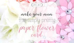 Pattern For Paper Flower Diy Paper Flower Card Freebie Template Flicker Flock