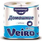 Купить <b>Бумажные полотенца Veiro Домашние</b> белые 2 слоя 2 ...