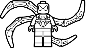 Small Picture Lego Iron Spiderman Coloring Page Coloring Book Kids Fun Art for