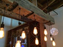 medium size of rustic wood beam lighting light fixture with reclaimed for the kitchen licious custom