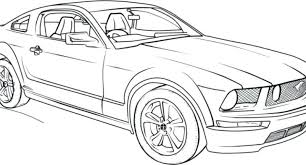 1965 Mustang Coloring Pages Camilovillegasinfo