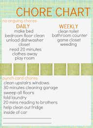 A Chore Chart With A Punch Card Chore Idea Awesome I Have