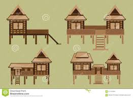 Thai House Designs Pictures Thai House Design Stock Vector Illustration Of Design
