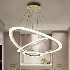 modern led 2 3 rings geometric