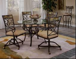 Glass Kitchen Tables Round Good Round Glass Kitchen Table And Chairs Showing Kitchen Chairs
