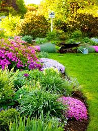 garden amusing colourful round contemporary grass flower garden ideas decorative mixed flowers plants design