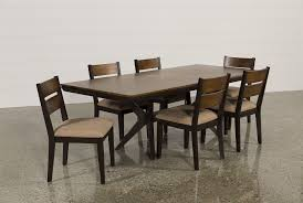 Rectangle Dining Room Tables Spencer 7 Piece Rectangle Dining Set W Wood Chairs Living Spaces