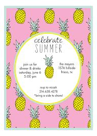 Pink Mod Pineapple Hawaiian Luau Invitations