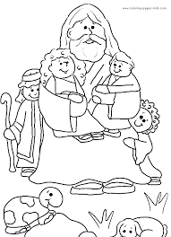 Jesus And Children Free Coloring Pages On Art Coloring Pages