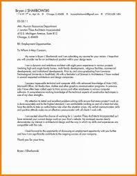 Architecture Cover Letter Writing Correct Examples Of Letters For