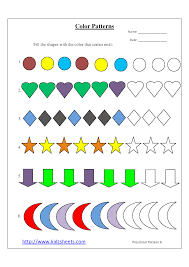 Patterns For Preschool Mesmerizing Kidz Worksheets Preschool Color Patterns Worksheet48