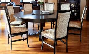 elegant round dining table for 6