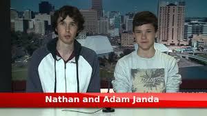 Nathan and Adam Janda - 7 News Experience - YouTube