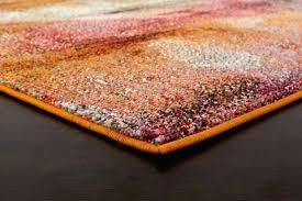burnt orange and pink transitional rug dunelm rugs